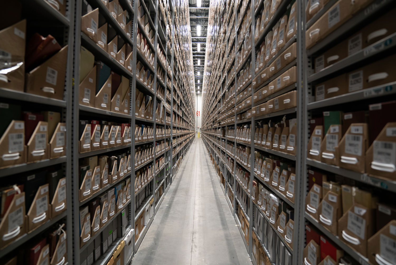 Shelves at the RECAP facility